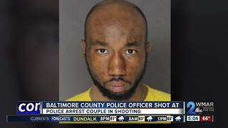 Couple arrested for shooting at Baltimore County police officer - Video