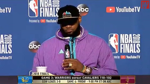 Watch: LeBron James Snaps at ESPN Reporter over Postgame Question