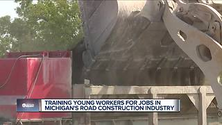 Training young workers for jobs in Michigan's road construction industry - Video