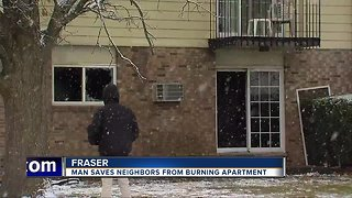 Man saves neighbors from burning apartment in Fraser