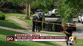 PD: 1 dead in Mt. Airy double shooting - Video