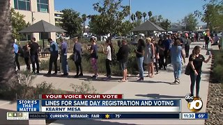 Long lines form around San Diego on Election Day