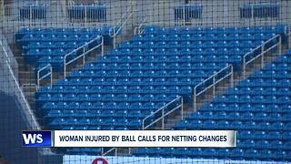 Woman injured by ball calls for netting changes - Video