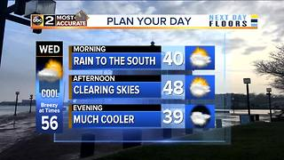 Rain Tonight, Cooler Wednesday - Video