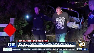 Driver in suspected stolen truck arrested by San Diego police after chase