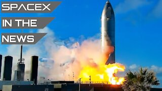 Starship SN10 Fired Up - GO For Launch #3 | SpaceX in the News