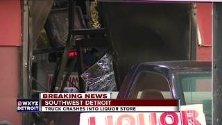 Truck smashes into Detroit liquor store for second time this week - Video