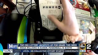 Mega Millions jackpot up to $346 million, Powerball to $307 million - Video