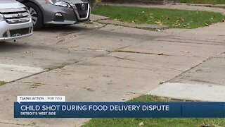 Child shot during food delivery dispute on Detroit's west side