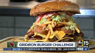 Whoa! Arizona Cardinals add 7-pound burger challenge to the menu - Video