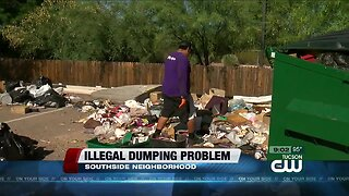 Local motorcycle club fed up with illegal dumping behind clubhouse