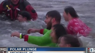 Alaskans plunge into frigid waters for a good cause - Video