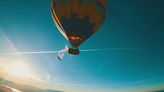 Daredevils Jump From Hot Air Balloon