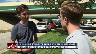Surviving students share powerful messages - Video