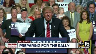 What will President Trump say at Tuesday's Phoenix rally? - Video