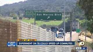 Caltrans study aims to reduce commute times on SR-78 - Video