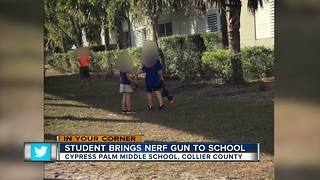 Student brings nerf gun to school - Video