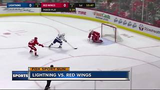 Nikita Kucherov scores twice, Tampa Bay Lightning beat Detroit Red Wings 3-2 - Video