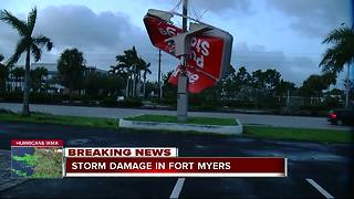 Storm damage in Fort Myers - Video