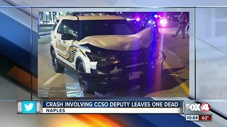 Crash involving Collier deputy leaves one dead
