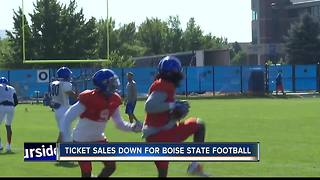 Ticket sales down for Boise State Football - Video