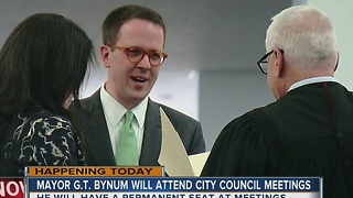 Mayor G.T. bynum willl attend today's city council meeting - Video