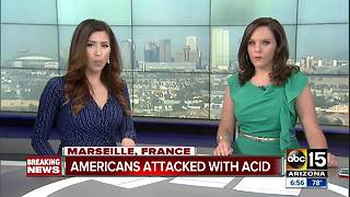 Official: 4 US tourists attacked with acid in Marseille - Video