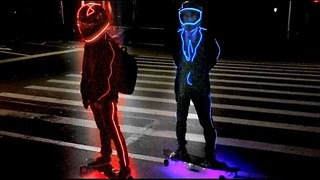 Glowing Skateboarders Take a Ride Through New York City - Video