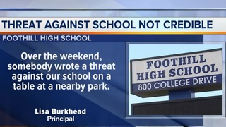 Threat made against Foothill High School - Video
