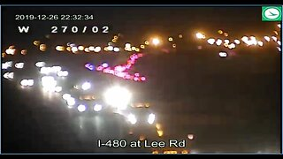 Multiple-vehicle crash shuts down I-480 westbound lanes