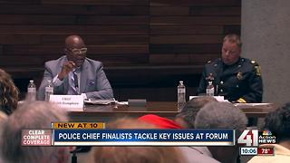 KCMO police chief finalists answer questions at forum - Video