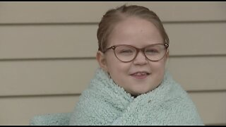 12-year-old girl welcome home after transplant