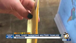 Mail thief targeting Oceanside military families