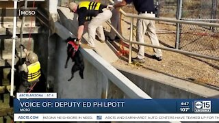MCSO Lake Patrol officials save dog trapped on canal dam gate