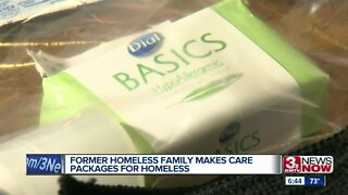 Former homeless Council Bluffs family make care packages for homeless