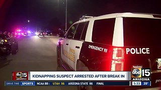 Kidnapping suspect arrested after break-in