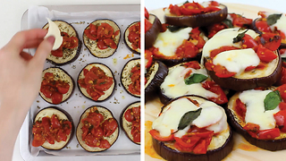 Mini eggplant pizzas: Healthy and delicious - Video