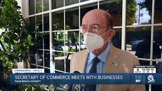 U.S. Secretary of Commerce Wilbur Ross holds discussion with Palm Beach County business leaders