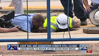 Light rail and downtown streets still closed