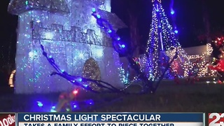 Family light show gets bigger and better every year - Video