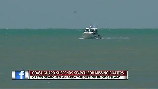 Coast Guard suspends search for missing men