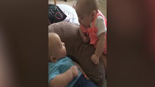 Two Babies Chat About Life
