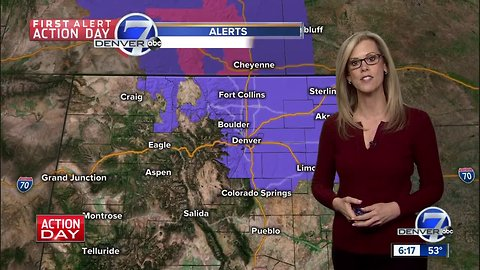 First Alert Action Day: Icy roads and snow for the Denver Metro Area on Saturday