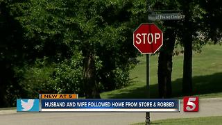 Couple Robbed In Their Driveway After Being Followed Home From Kroger - Video
