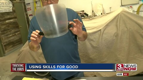 Plattsmouth auto shop owner making face shields for doctors