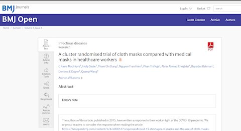 Does Science Support Wearing Masks?