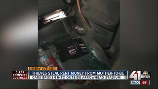 Several cars broken intoduring Thursday's Chiefs game - Video