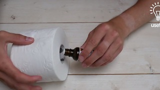How to create an air freshener inside a toilet paper roll