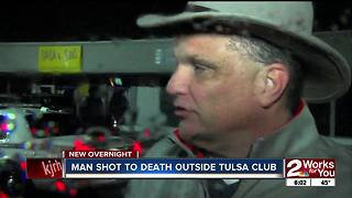 A man is dead after someone shot him outside a club at 15th and Memorial - Video