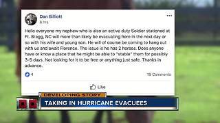 Local horse farm owner helping Hurricane Florence evacuees through unexpected way - Video